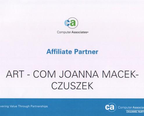 Computer Associaties Affiliate Partner
