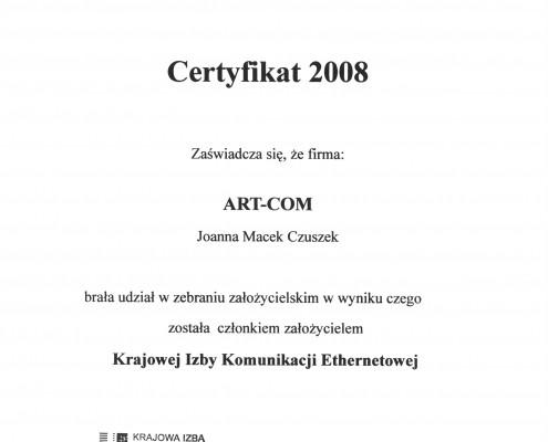Certyfikat Założycielski KIKE