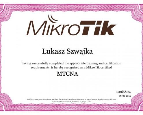 Certyfikat MikroTik MTCNA