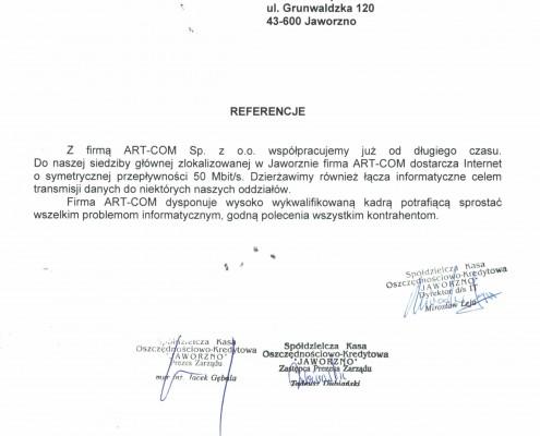 Referencje od firmy SKOK Jaworzno