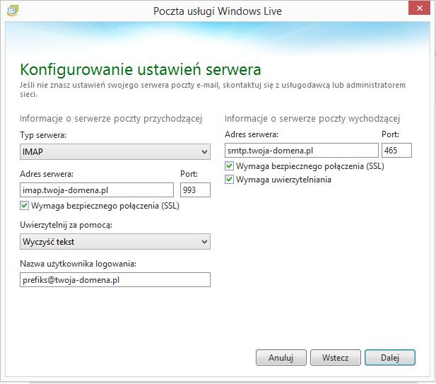 3f3686ab3301e Konfiguracja programu Poczta Windows Live – ART-COM Sp. z o. o.