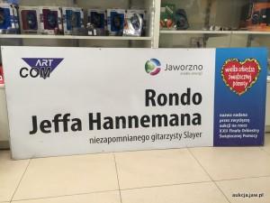 Szyld Rondo Jeffa Hannemana
