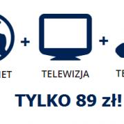 Pakiet Internet + Telewizja + telefon za 89 zł!