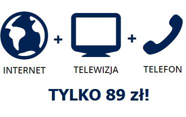 pakiet Internet + telewizja + telefon za 89zł!