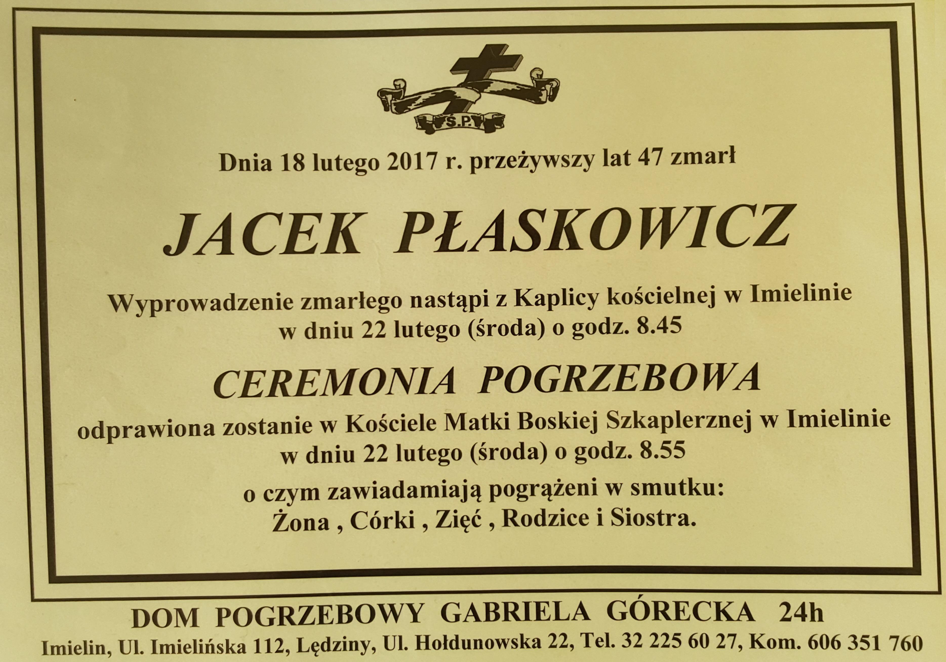 Jacek Płaskowicz - klepsydra