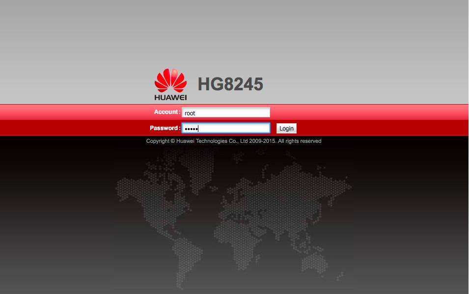 Logowanie do routera Huawei