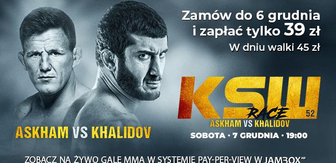Banner reklamujący 52. galę KSW